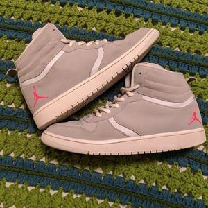 Jordan Heritage Grey and Pink Youth Shoes